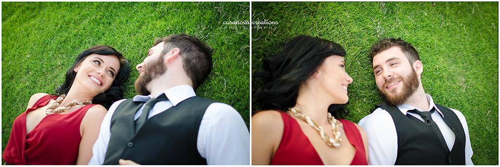Borris & Karolina gazing into each others eyes while laying on the grass:)
